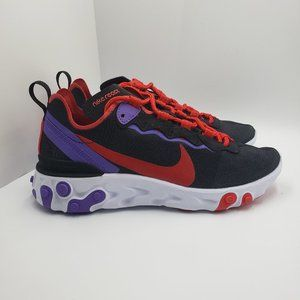 Nike Women's React Element 55 'Black Red Purple'